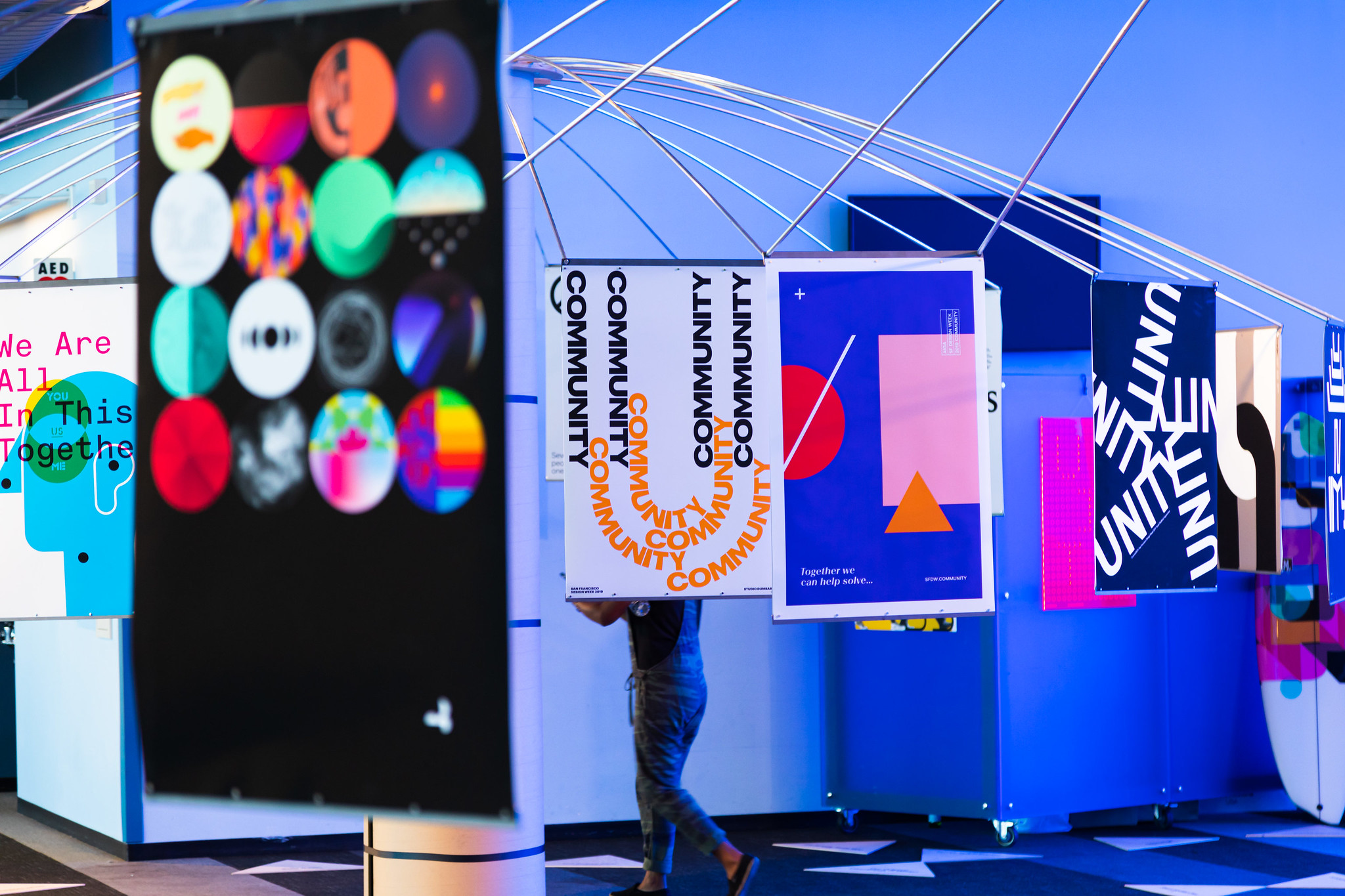 SF Design Week CommUnity exhibition printed by Plotnet Prints